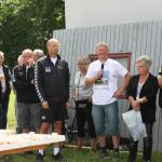 Taler af Torben Eriksen med mikrofon. Bagefter taler Jury Jørgensen som står lige ved siden af.