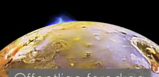 Det blå vulkanudbrud på Jupitors måne